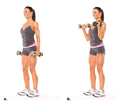 Ejercicios para biceps, y elimar celulitis de los brazos